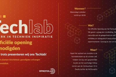 Opening Techlab Zwolle op 6 oktober